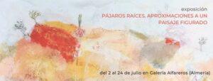 cartel con obra de la exposición de María Moreno